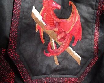 Dragon Backpack - Fantasy Art Dragon - Stick Dragon