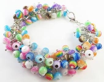 Striped cha cha bracelet