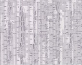 1/2 Yard - COMPOSITIONS - Music Notes Grey by BasicGrey for Moda Fabrics.