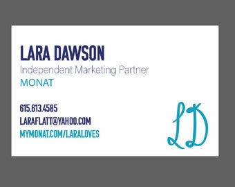Printable Blue and White Bulk Business Cards