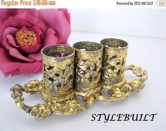 Stylebuilt Gold Ormolu Lipstick -   Stylebuilt Holder  - 60's Vanity Storage