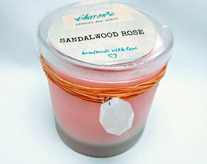 Sandalwood Rose Pink Soy Candle
