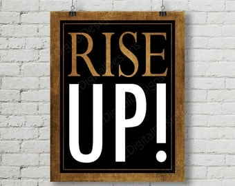 Hamilton Inspired Fan Art, Printable Hamilton Musical Quote Subway Word Art Poster, Rise Up, 11x14 and 8x10 INSTANT DOWNLOAD