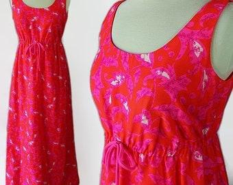 Mod Mumu, Hawaiian Dress, Hot Pink, Mod, Novelty Print Dress