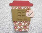 Happy Valentines Day Latte Gift Card Holder