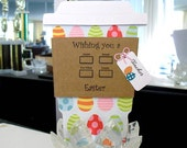Happy Easter EGGs Latte Gift Card Holder