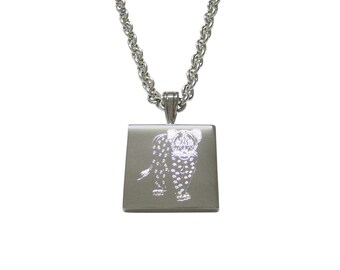 Silver Toned Etched Cheetah Cub Pendant Necklace
