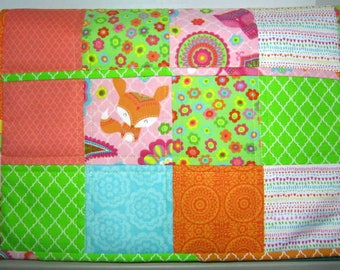 Fox Patch Pockets Quilted Sewing Machine Dust Cover, JDCreativeHands