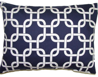 PILLOW.BLUE PILLOW.12x16 or 12x18 inch.Lumbar Pillow Cover.Decorative Pillows.Housewares.Navy Blue Pillow.Navy Blue Cushion.Cushion.Cm.Blue