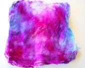 Silk Hankies (Mawata) to Spin or Knit - One-of-a-Kind Hand Painted Silk Hankies #3 - 8 grams