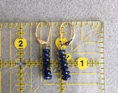 Kyanite and Yellow Gold Filled Earrings