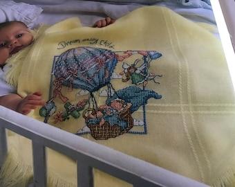 Dream Away Child - Baby Blanket - Cross Stitch Pattern Only