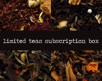 Monthly Tea Subscription Box - Tea of the Month - Loose Leaf Tea - Gift for Tea Drinker - Gift for Mom - Gift for Her - Gift for Him