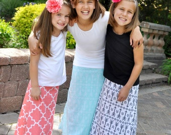 Clearance!! Black and White Arrow Maxi Skirt ***Sale*** Toddler Girl Little Girl Tween Girl READY TO SHIP