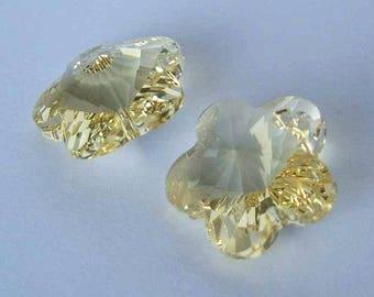 SWAROVSKI 6744 Flower crystal pendant JONQUIL