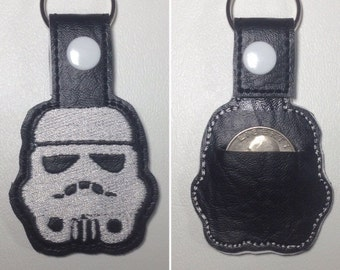 Star Wars Quarter Holder, Storm Trooper Key Fob, Aldi's, Change Holder, Shopper, Grocery Shopping, Key Fob, Fun Key Chain, Quarter Keeper