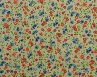 Vintage Cotton Fabric, Cotton Floral Fabric, Vintage Fabric, Cotton Blend, Fabric by the Yard, Fabric Yardage - 1 Yard - CFL2214