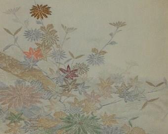Women's Green Haori with Silver Flowers (WHGR QP 7116 E)