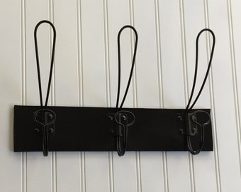 Coat Hook / Black Wall Hook/ Farm House /Wall Hook /Decorative Wall Hook / Black Decor / Vintage /Industrial / Fixer Upper