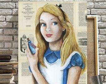 Disney Canvas Print of Alice from Alice in Wonderland