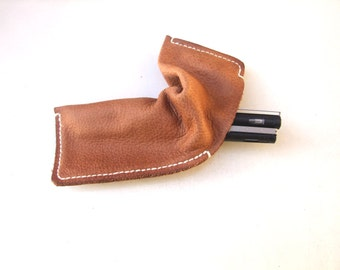 Leather Pencil Case, Personalized Pen holder, Gift for Him, for Her, Under 25 USD