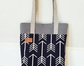 Montana tote bag/Add any state patch/Any print on this site/Mid size tote, between a purse and a standard tote/Made to order