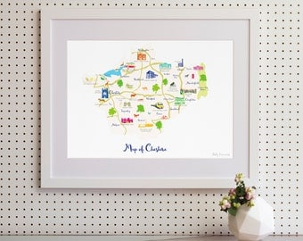 Map of Cheshire Art Print