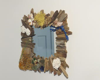 """Driftwood & Accessory  Mirror """"Bit of Both"""" 20""""x20"""" Cape Cod, Abaco"""