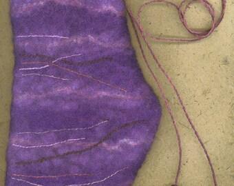 Purple Vessel wet felted bag
