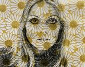 Reserved for Paula Gill: Sharon Tate Daisy Print by Tania Qurashi