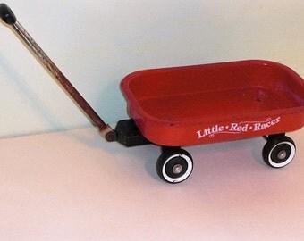 "Vintage ""Little Red Racer"" Wagon"