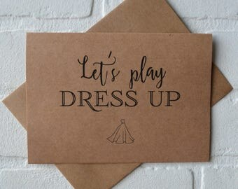 LETS PLAY DRESS up will you be my personal attendant funny bridesmaid Invitation proposal card funny junior bridesmaid card dress up card