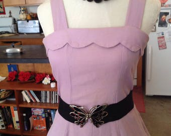 Lilac 50s swing full skirt dress & bolero medium