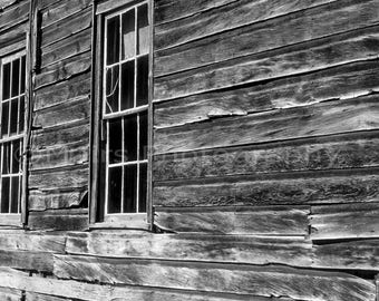 Weathered Wood California Historical, Bodie Ghost Town, Original Photograph, Fine Art Photography matted, signed 5x7 Original Photograph