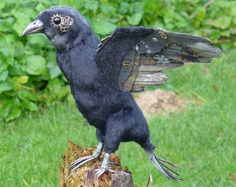 New Steampunk raven, crow, sew your own one  ebook with 96 pages by Furry Critters