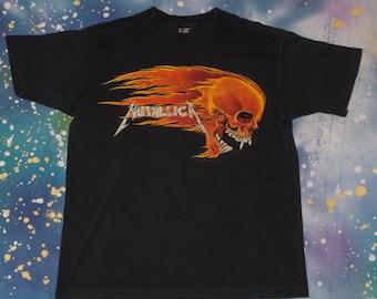 1994 METALLICA Pushead Metal T-Shirt Size XL 90s Giant