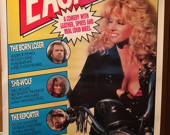 Movie poster, Easy Wheels, 1989 with Paul Le Mat.