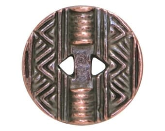 6 Native Casting 1/2 inch ( 13 mm ) Copper Plated Metal Buttons