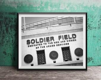 Soldier Field - Chicago Bears Football Stadium Sign Art Print - photo