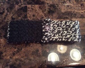 Woman's winter headband and neckwarmer/scarf/ear warmers