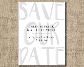 Custom Wedding Save the Date