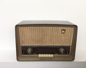 Vintage retro radio 1950s. Norelco.