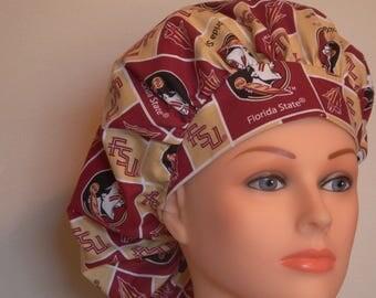 Sharp FSU Print Bouffant Surgical Hat