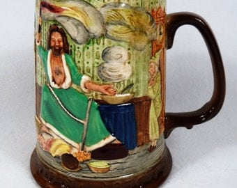 Excellent! Vintage Royal Doulton Beswick Tankard Mug Dickens 1976 Yule  -- Free U.S. Shipping
