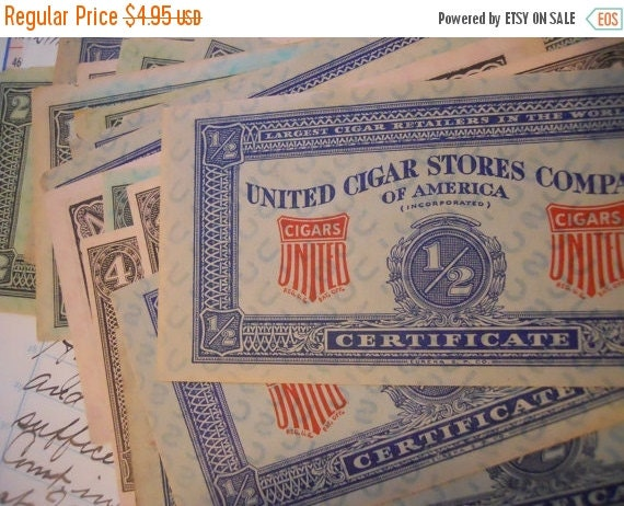 ON SALE Antique Cigar Coupons Assorted Lot