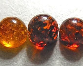 AMBER CABS, Baltic Amber, Amber cabs, amber cabochons, 4mm Amber, amber,