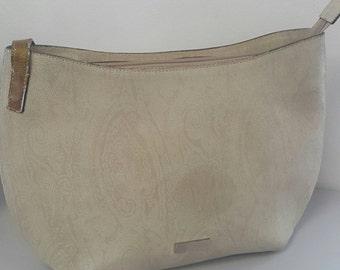 Authentic Etro leather Paisley shoulder bag