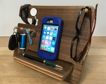 50% OFF SALE Apple Watch Docking Station iPhone Dock iPhone Docking Station, Father's Day Gift, Nightstand Organizer iPhone Charging Station