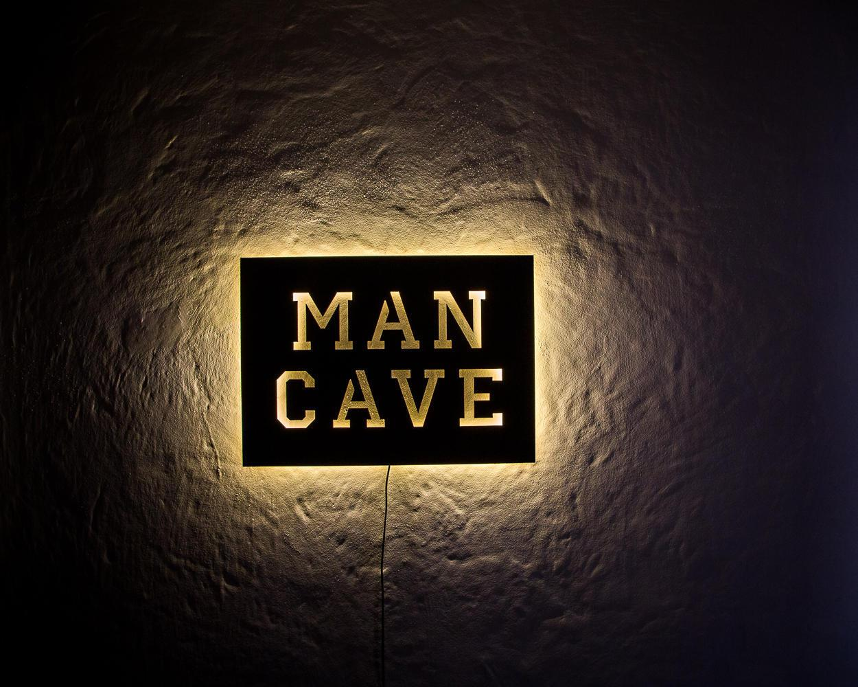 Man Cave Decorative Signs : Man cave led sign wall art handmade from mdf unique