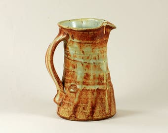 Classic stoneware pitcher with matte glaze